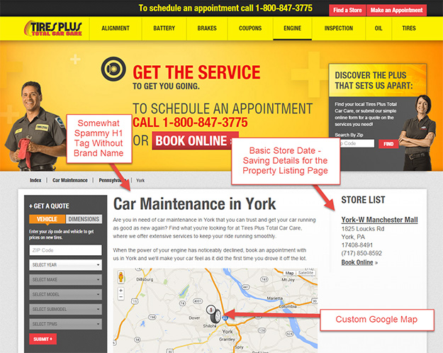 landing pages for franchisees